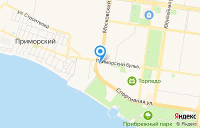 Местоположение на карте пункта техосмотра по адресу Самарская обл, г Тольятти, б-р Приморский, д 55