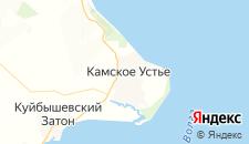 Отели города Камское Устье на карте