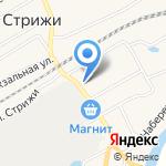 Отделение почтовой связи п.г.т. Стрижи на карте Кирова