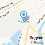 Баня на дровах на карте Кирова
