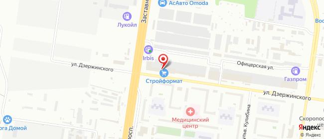 Карта расположения пункта доставки Тольятти Дзержинского в городе Тольятти