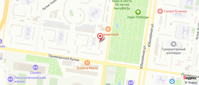 Карта расположения пункта доставки На Революционной в городе Тольятти