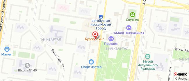 Карта расположения пункта доставки Билайн в городе Тольятти