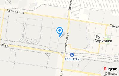 Местоположение на карте пункта техосмотра по адресу Самарская обл, г Тольятти, ул Борковская, д 44