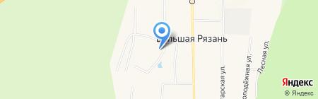 Поволжский банк Сбербанка России на карте Большой Рязани