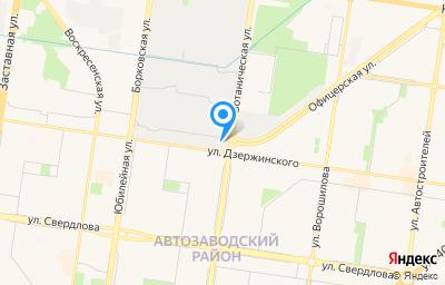 Местоположение на карте пункта техосмотра по адресу Самарская обл, г Тольятти, ул Офицерская, влд 41
