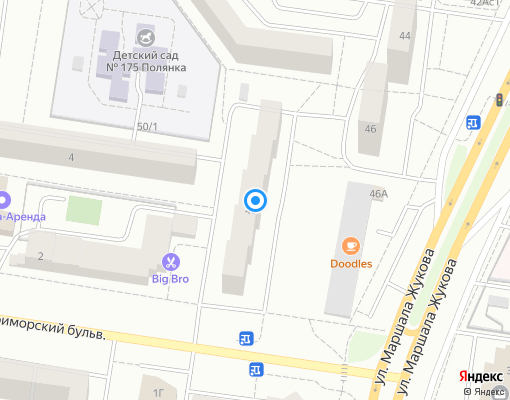 Товарищество собственников жилья «Маршала Жукова 48» на карте Тольятти