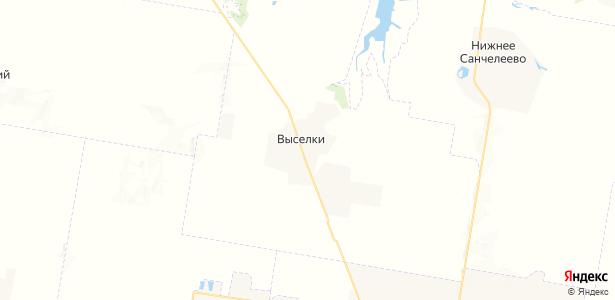 Выселки на карте