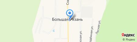 Киоск по продаже хлебобулочных изделий на карте Большой Рязани