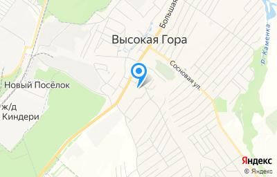 Местоположение на карте пункта техосмотра по адресу Респ Татарстан, Высокогорский р-н, с Высокая Гора, ул Молодежная, д 35А