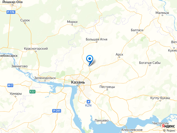 село Усады на карте