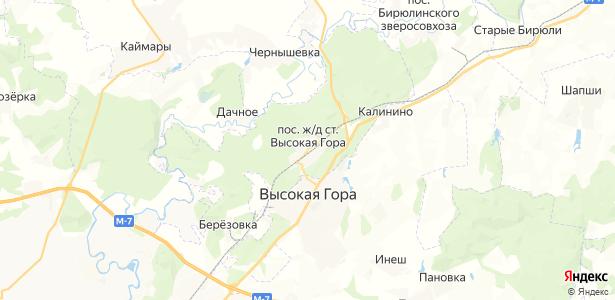 Высокая Гора на карте