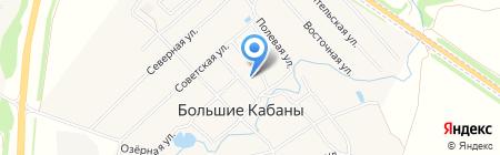 Средняя общеобразовательная школа на карте Больших Кабанов