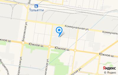Местоположение на карте пункта техосмотра по адресу Самарская обл, г Тольятти, ш Южное, д 24