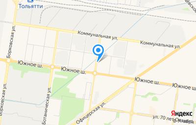 Местоположение на карте пункта техосмотра по адресу Самарская обл, г Тольятти, ш Южное, влд 12