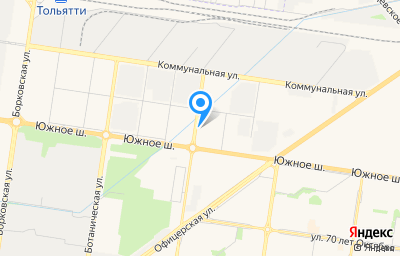 Местоположение на карте пункта техосмотра по адресу Самарская обл, г Тольятти, ш Южное, д 12