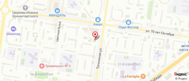 Карта расположения пункта доставки Пункт выдачи ИП Волчок в городе Тольятти