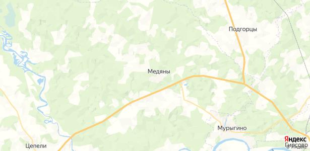 Медяны на карте