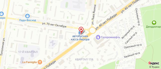 Карта расположения пункта доставки СИТИЛИНК в городе Тольятти