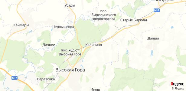 Калинино на карте