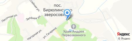 Пекарня на карте Бирюлинскога зверосовхоза