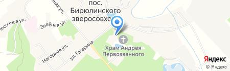 Белочка на карте Бирюлинскога зверосовхоза