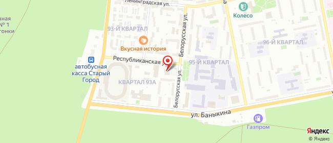 Карта расположения пункта доставки Халва в городе Тольятти