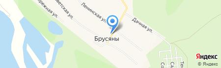 Церковь в честь святых Космы и Дамиана на карте Брусянов