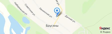 Почтовое отделение на карте Брусянов