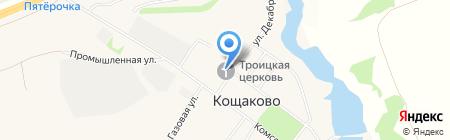 Троицкая церковь на карте Старого Кощаково