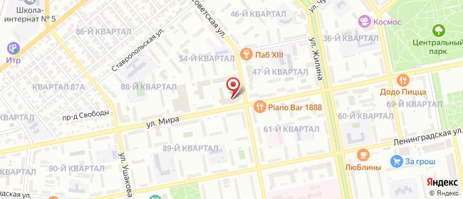 Карта расположения пункта доставки Тольятти Мира в городе Тольятти