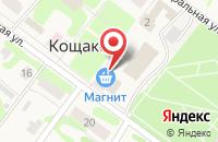 Схема проезда до компании Продуктовый магазин в Кощаково