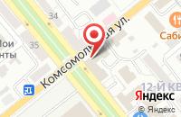 Схема проезда до компании Рубиновый вторник в Тольятти