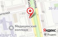 Схема проезда до компании Нива в Тольятти