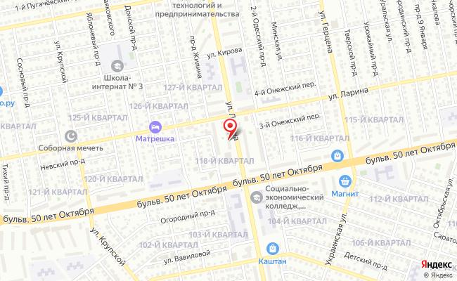 Карта расположения пункта доставки Тольятти Ленина в городе Тольятти