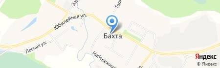 Приход Троицкой церкви с. Бахта на карте Бахты