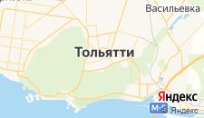 Гостиницы города Тольятти на карте