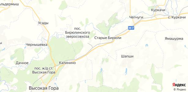 Бирюли на карте
