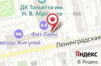 Схема проезда до компании ВебГрафикАрт в Тольятти