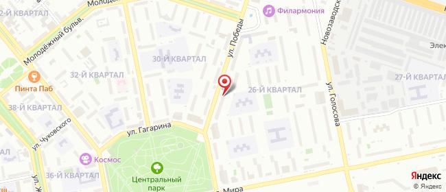 Карта расположения пункта доставки Тольятти Победы в городе Тольятти