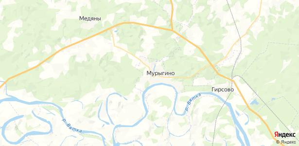 Мурыгино на карте