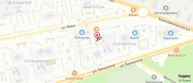 Карта расположения пункта доставки На Мира в городе Тольятти