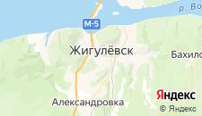 Отели города Жигулёвск на карте