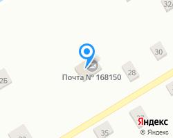 Схема местоположения почтового отделения 168150