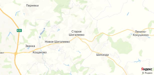 Старое Шигалеево на карте