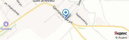 Шигалеевский на карте Старого Шигалеево