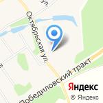 Древкар на карте Кирова
