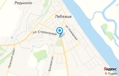 Местоположение на карте пункта техосмотра по адресу Кировская обл, пгт Лебяжье, ул Комарова, д 54