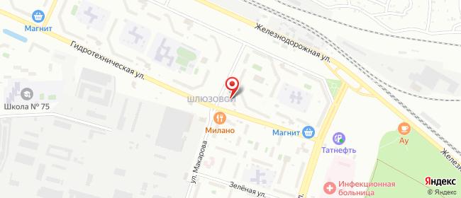 Карта расположения пункта доставки Тольятти Гидротехническая в городе Тольятти