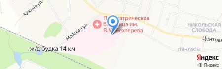 Кировская областная клиническая психиатрическая больница им. В.М. Бехтерева на карте Ганино